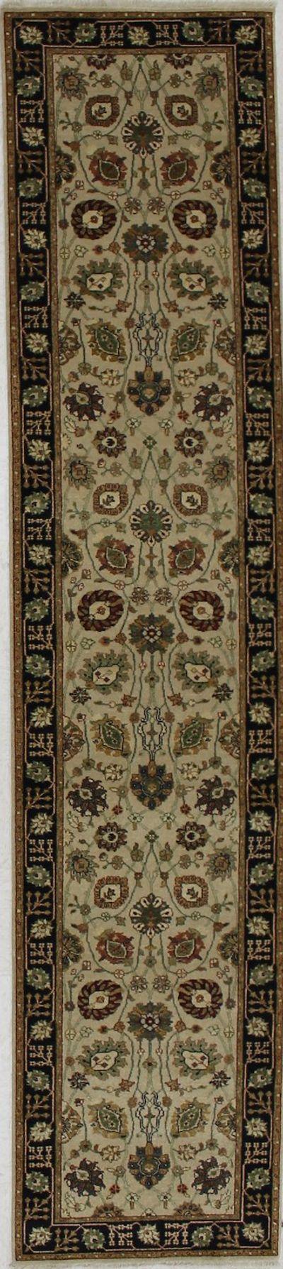 Ivory Tabriz Rug #2353 • 2′7″ x 11′10″ • 100% Wool