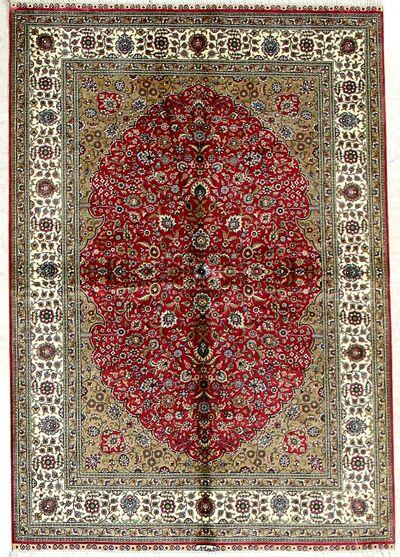 PINK Cezaevi Rug #2590 • 4′0″ x 5′9″ • 100% Silk
