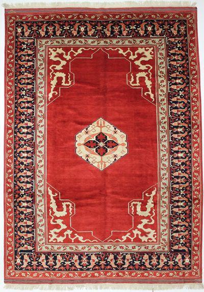 Red Ushak Rug #8440 • 10′0″ x 14′1″ • Wool on Silk