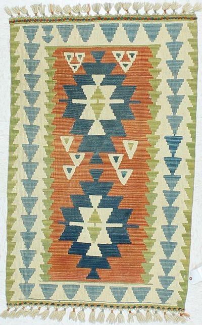 Peach Kilim Rug #468 • 2′8″ x 3′11″ • 100% Wool