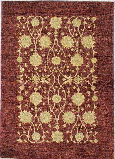 Brown Modern Rug #8296 • 5′7″ x 7′10″ • Wool on Cotton