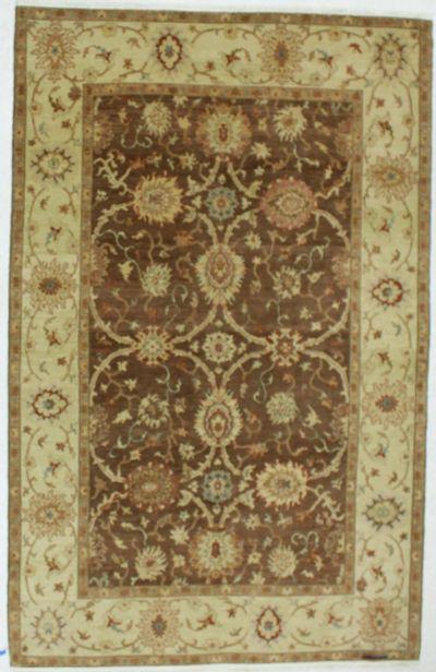 Brown Ushak Rug #659 • 6′0″ x 9′5″ • 100% Wool