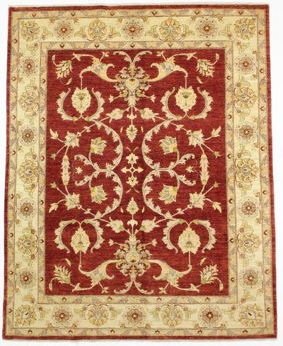 Red Ushak Rug #271 • 7′9″ x 9′9″ • Wool on Cotton