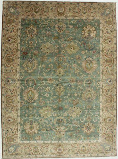 Light Blue Karaman Rug #549 • 9′1″ x 12′5″ • 100% Wool