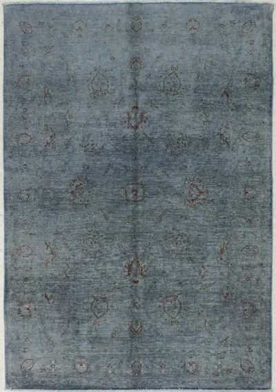 Gray Over Dyes Rug #8217 • 5′4″ x 7′10″ • 100% Wool