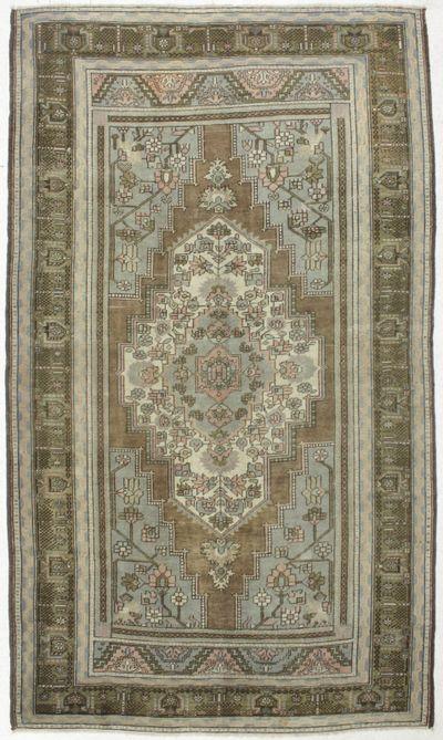 Dark Olive Green Konya Rug #40 • 6′11″ x 12′2″ • 100% Wool