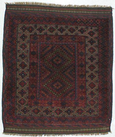 NAVY Sumak Rug #471 • 3′11″ x 5′3″ • 100% Wool