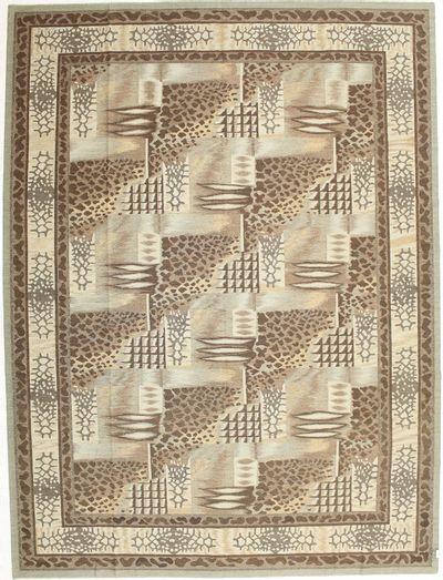 Ivory Modern Rug #1468 • 9′1″ x 12′3″ • Wool on Cotton