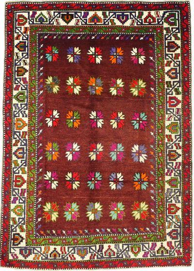 BURGUNDY Konya Rug #8007 • 6′1″ x 8′8″ • 100% Wool