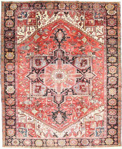 Red Heriz Rug #6741 • 9′2″ x 11′4″ • 100% Wool