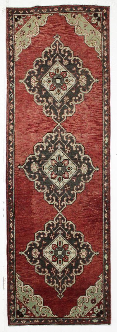 Red Konya Rug #2752 • 3′3″ x 10′0″ • 100% Wool