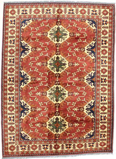 Rust Kunduz Rug #1562 • 7′2″ x 9′8″ • Wool on Cotton