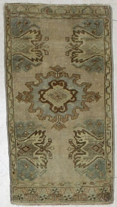 Ivory Konya Rug #1967 • 1′9″ x 3′10″ • 100% Wool