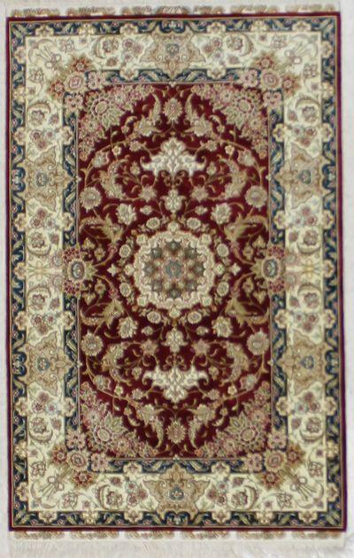 Red Cezaevi Rug #2637 • 2′10″ x 4′4″ • 100% Silk