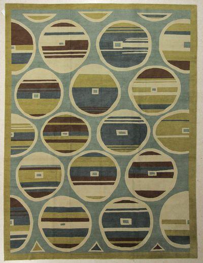 Multicolor Modern Rug #7632 • 9′0″ x 12′4″ • 100% Wool