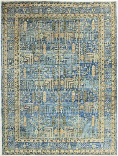 LT BLUE Ariana Rug #6912 • 9′1″ x 12′2″ • 100% Wool