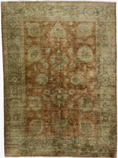 Red Ushak Rug #127 • 5′5″ x 7′6″ • Wool on Cotton
