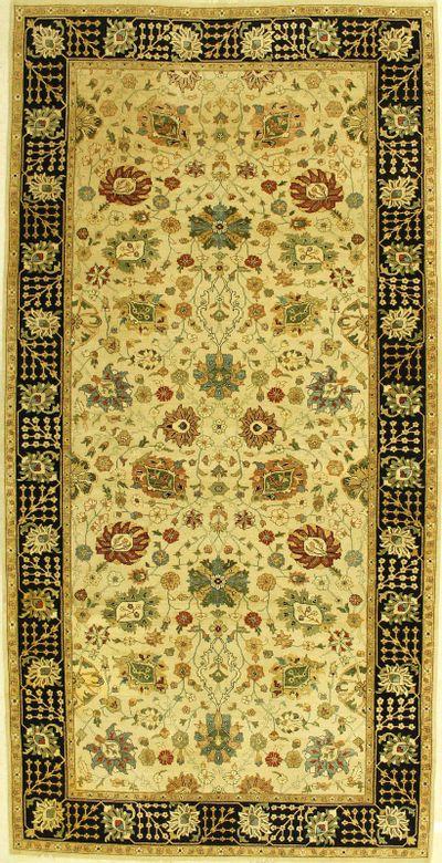 Ivory Zigler Rug #1208 • 6′11″ x 13′9″ • Wool on Cotton
