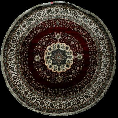 Red Spon Rug #7853 • 8′0″ x 8′0″ • 100% Silk
