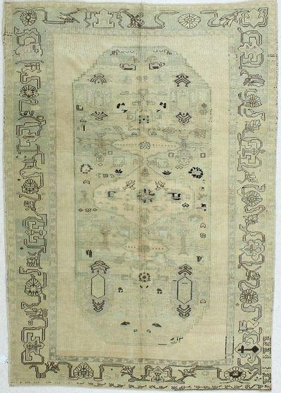 Ivory Konya Rug #58 • 6′3″ x 9′0″ • 100% Wool