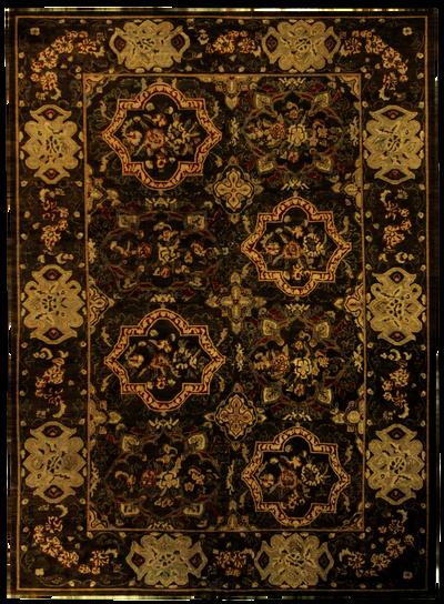 Brown Ushak Rug #7799 • 9′9″ x 13′3″ • 100% Wool