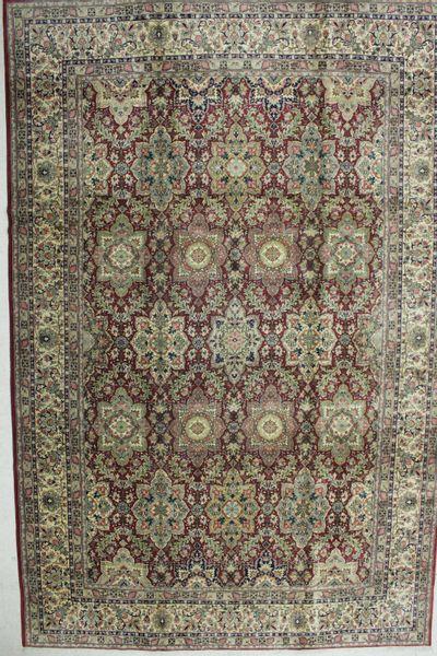 BURGUNDY Ladik Rug #8778 • 10′0″ x 15′2″ • 100% Wool