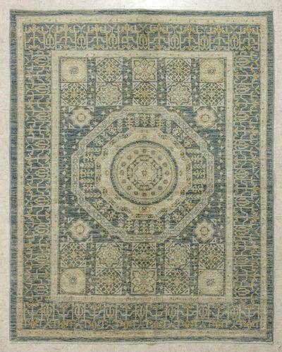 Gray Kothan Rug #7734 • 5′0″ x 6′2″ • 100% Wool