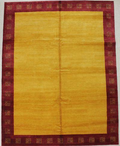 Gold Modern Rug #8319 • 8′1″ x 10′4″ • 100% Wool