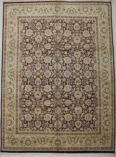 BURGUNDY Ottoman Rug #8759 • 8′11″ x 12′1″ • 100% Wool