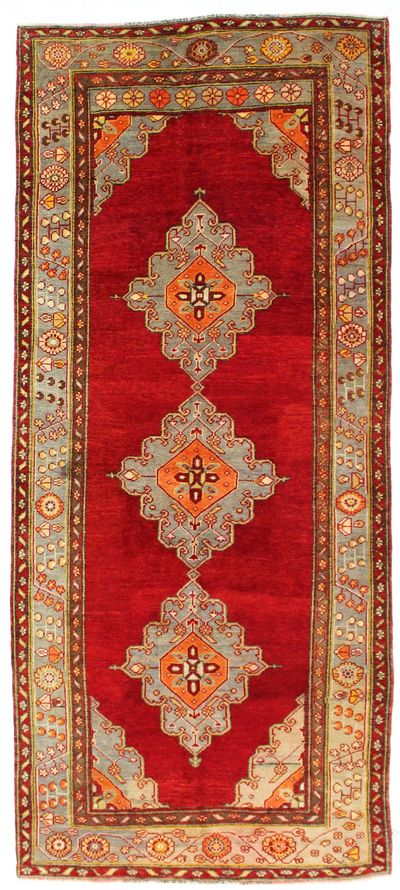 Red Konya Rug #14 • 4′11″ x 11′2″ • 100% Wool