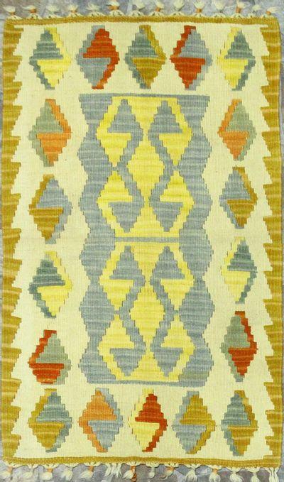 Multicolor Kilim Rug #868 • 2′1″ x 3′1″ • 100% Wool