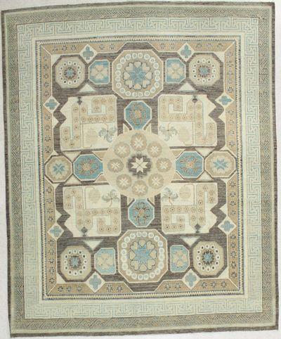 Brown Kothan Rug #1791 • 8′0″ x 9′11″ • 100% Wool