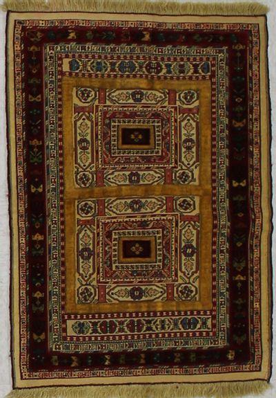 Rust Herki Rug #1709 • 2′9″ x 3′10″ • 100% Wool