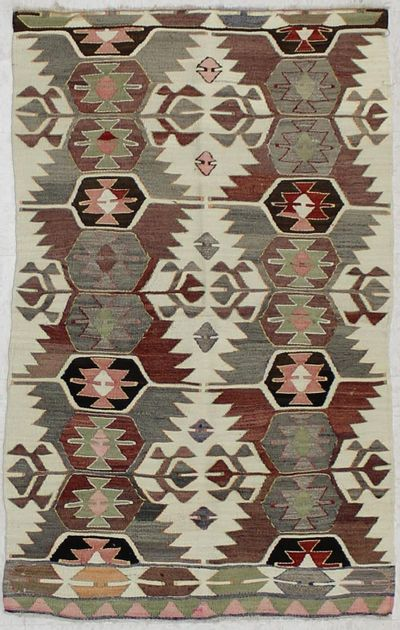 Ivory Kayseri Rug #1531 • 3′0″ x 5′0″ • 100% Wool