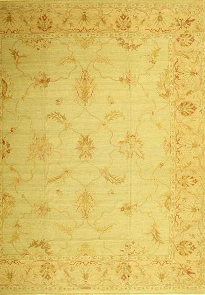 Light Green Karaman Rug #558 • 12′2″ x 14′9″ • 100% Wool