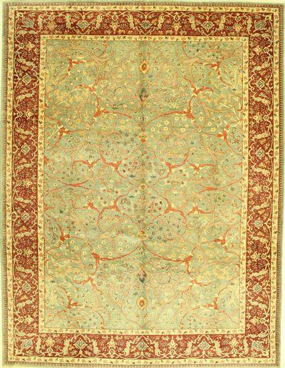 Light Green Sivas Rug #585 • 9′4″ x 12′0″ • 100% Wool
