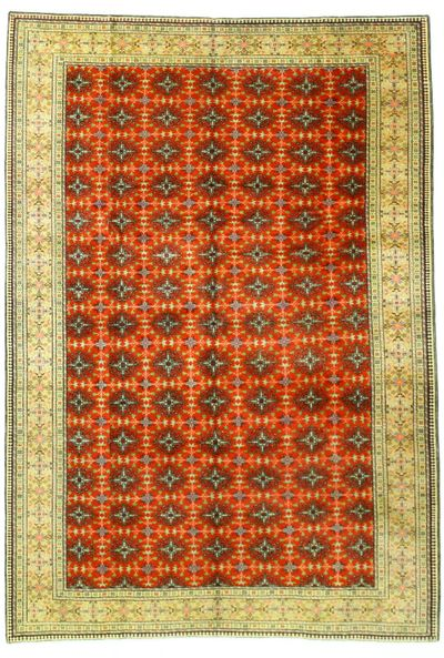 Red Kayseri Rug #2462 • 6′6″ x 9′5″ • Wool on Cotton