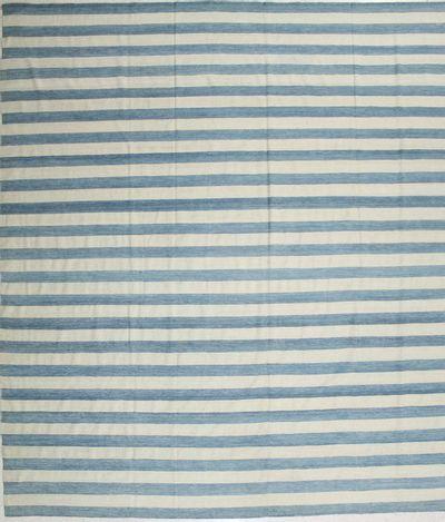 Light Blue Modern Rug #1981 • 11′10″ x 12′3″ • 100% Wool