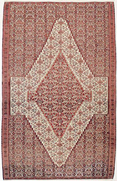 Ivory Kilim Rug #1696 • 5′3″ x 8′3″ • 100% Wool