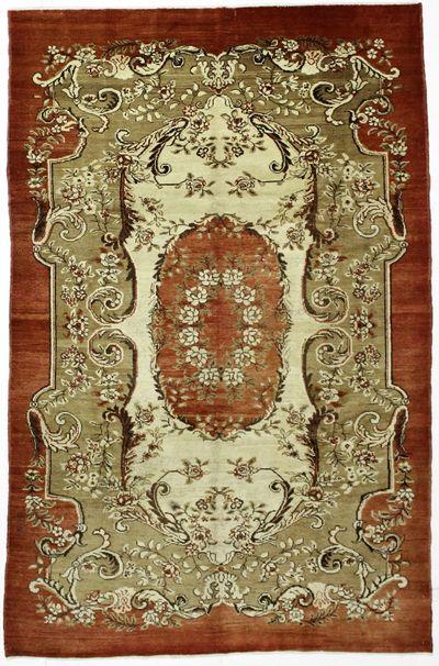 Red Konya Rug #37 • 6′4″ x 9′9″ • 100% Wool