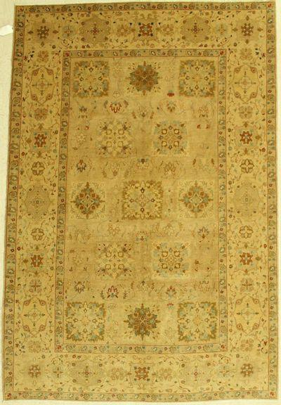Light Brown Karaman Rug #541 • 5′11″ x 8′10″ • Wool on Cotton