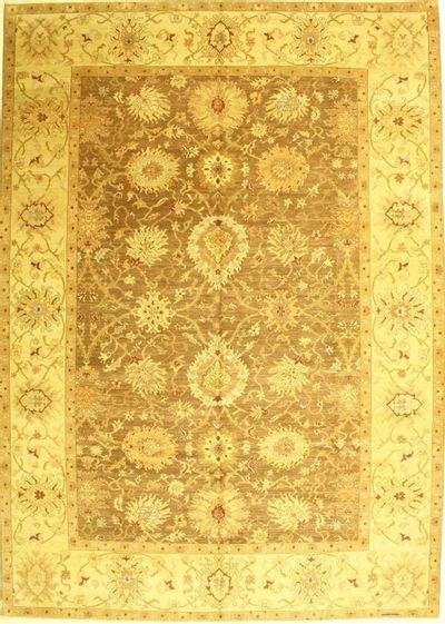 Brown Ottoman Rug #709 • 10′2″ x 14′2″ • 100% Wool