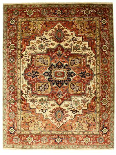 Red Serapi Rug #259 • 8′7″ x 11′8″ • Wool on Cotton