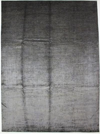 Gray Contemporary Rug #1271 • 10′0″ x 13′6″ • 100% Silk