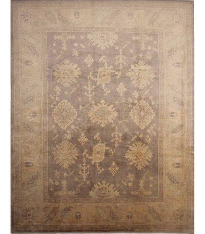 Gray Ushak Rug #6717 • 9′8″ x 12′3″ • 100% Wool