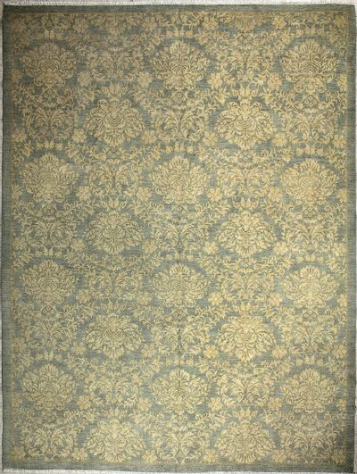 LT BLUE Kafkas Rug #7263 • 8′11″ x 11′11″ • Wool on Cotton