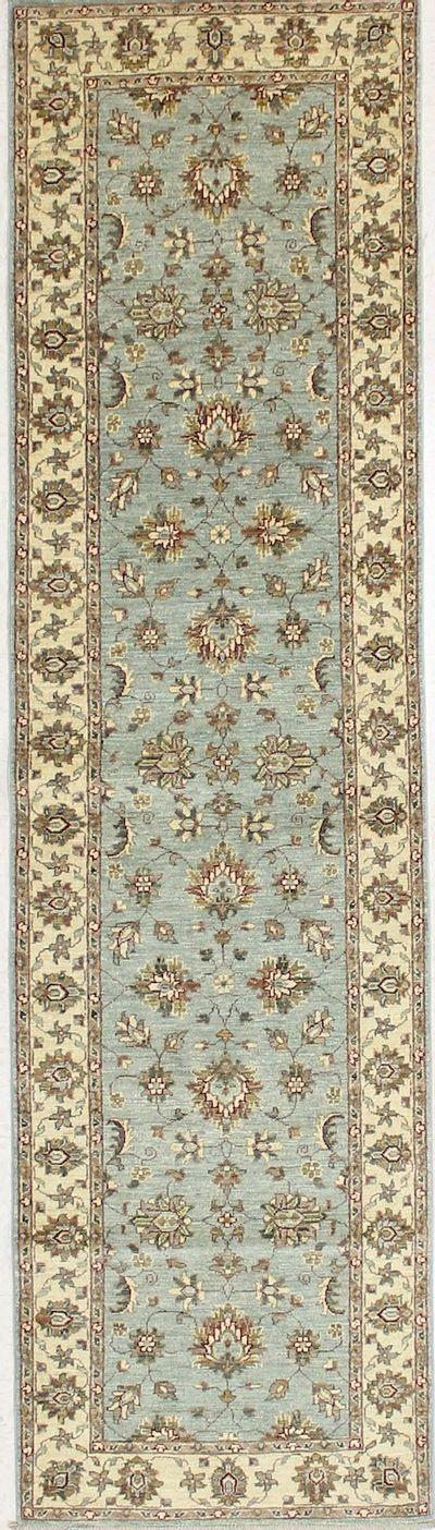 Blue Ushak Rug #7174 • 2′7″ x 9′8″ • 100% Wool