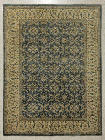 Blue Ushak Rug #7703 • 6′0″ x 8′1″ • 100% Wool