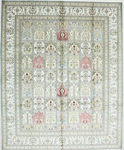 Ivory Spon Rug #503 • 8′0″ x 10′0″ • Silk on Cotton