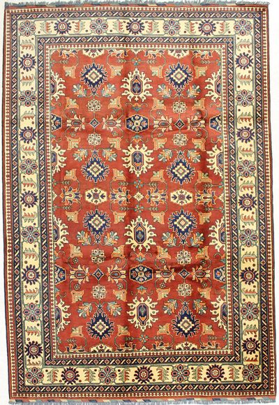 Red Kunduz Rug #1684 • 6′9″ x 9′11″ • 100% Wool